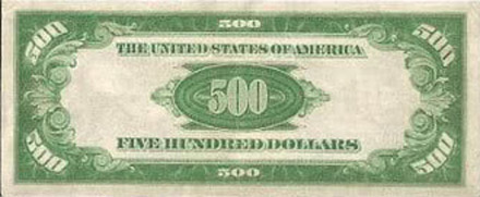 Billete 500 dólares